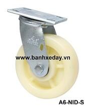 banh-xe-day-cong-nghiep-nylon-trang-cang-thep-xoay-a6-nid-s